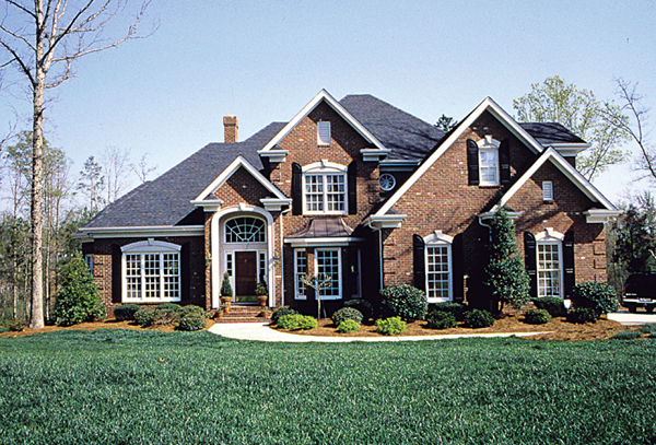 Three beautiful colonial house plans the house designers for New american style house plans