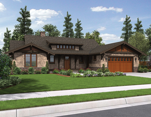 Three perfect empty nester house plans the house designers for Empty nester home plans designs