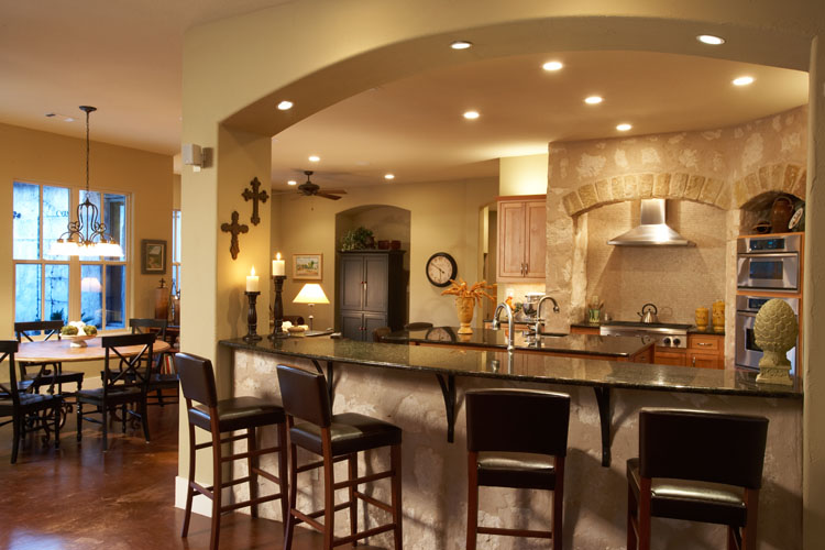 Most popular home features of 2014 the house designers House plans with large kitchen island