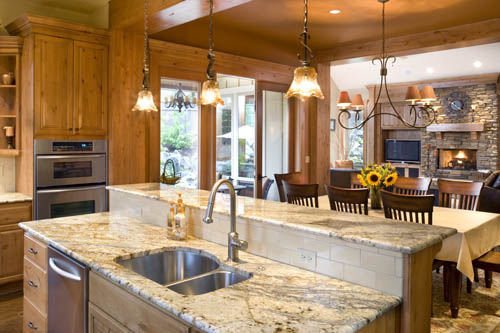 Halstad Craftsman Ranch House Plan Kitchen
