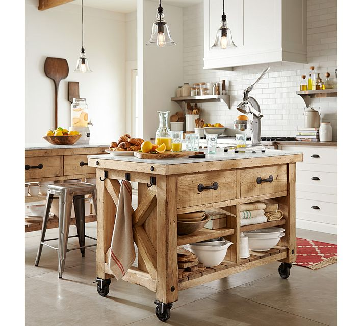 Pottery Barn Hamilton Reclaimed Wood Kitchen Island