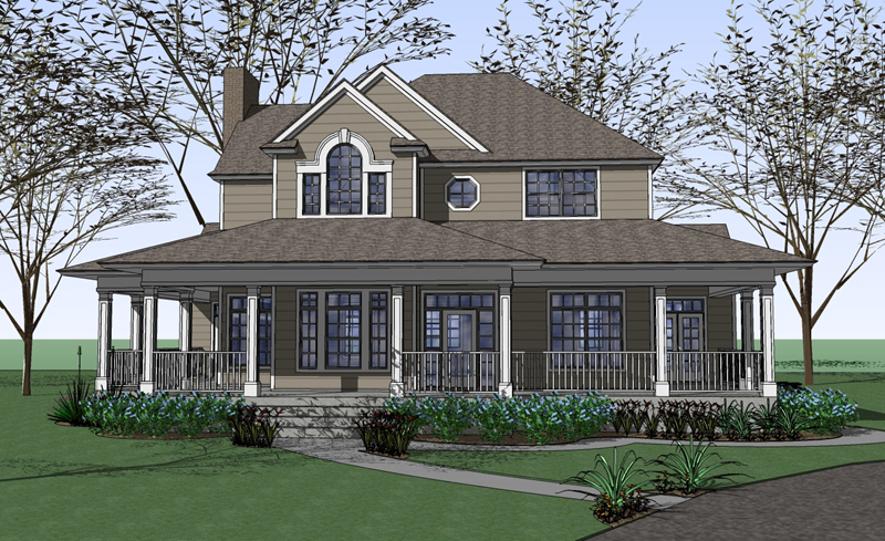 Burnet Farmhouse Designs Have Large Wraparound Porches