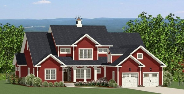 Fall in love with these new england homes the house for New england house plans