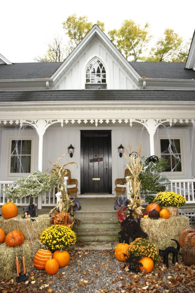 Decorated Halloween Home
