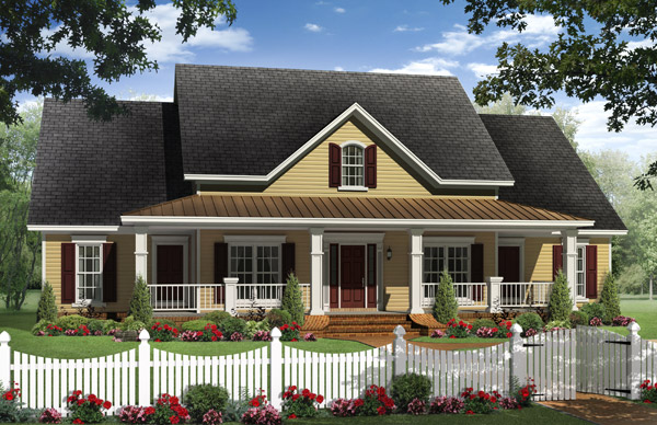 The Berkshire house plan is a great example of the symmetry commonly found in the colonial style.