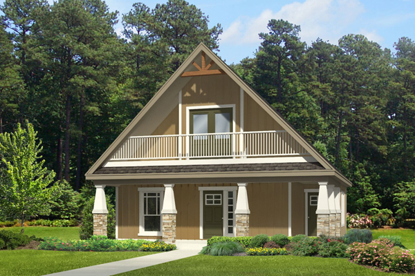 House plan of the week small cottage home the house for Summer cottage house plans