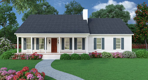 Best-selling House Plan - Sutherlin Small Ranch