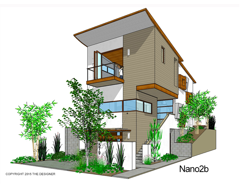 Modern affordable 3 story residential designs the for Modern home plans for narrow lots