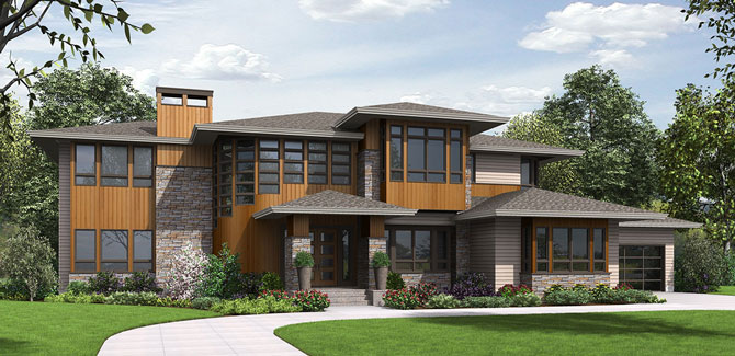 Finding the perfect house plan just got easier the house for Prairie home plans frank lloyd wright