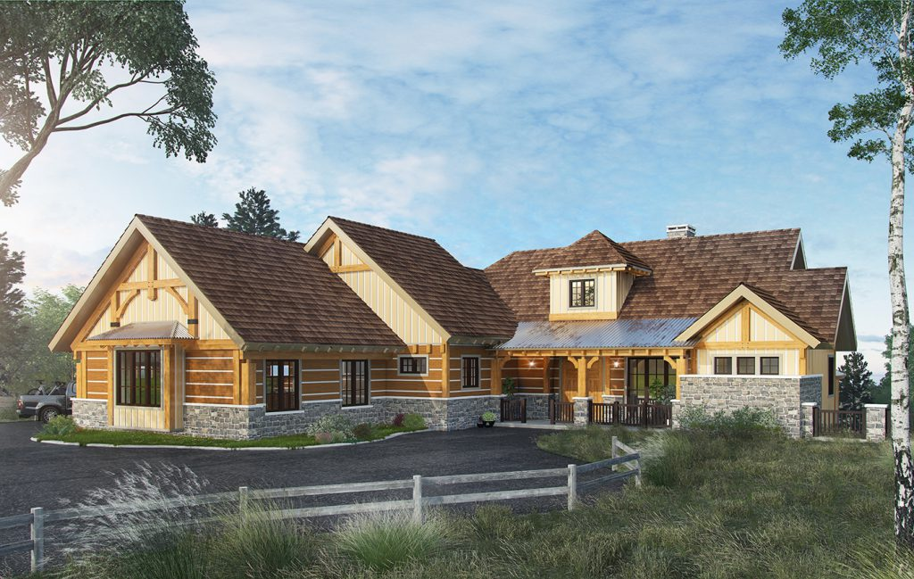 Deerpark ext3d the exterior of house plan