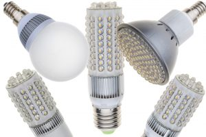A variety of LED bulbs