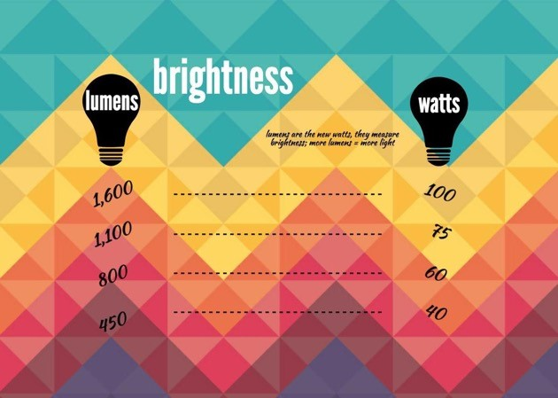 Brightness LED bulbs infographic