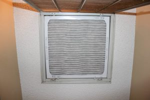 A typical home air filter.