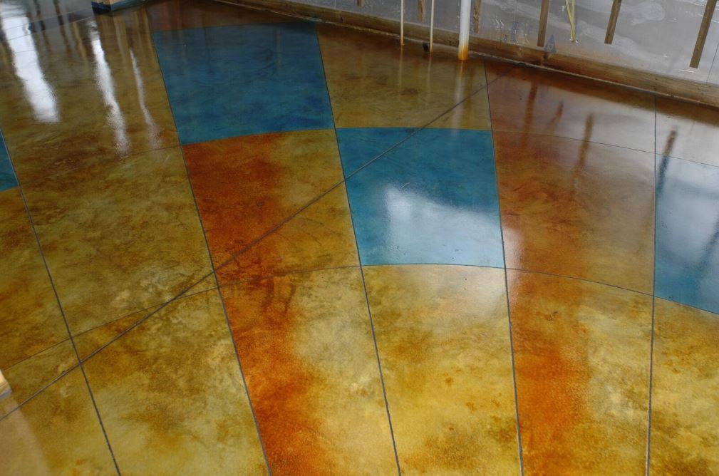 dyed concrete floor