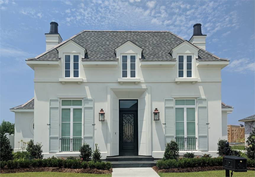 One Story Home; English/French Country Style