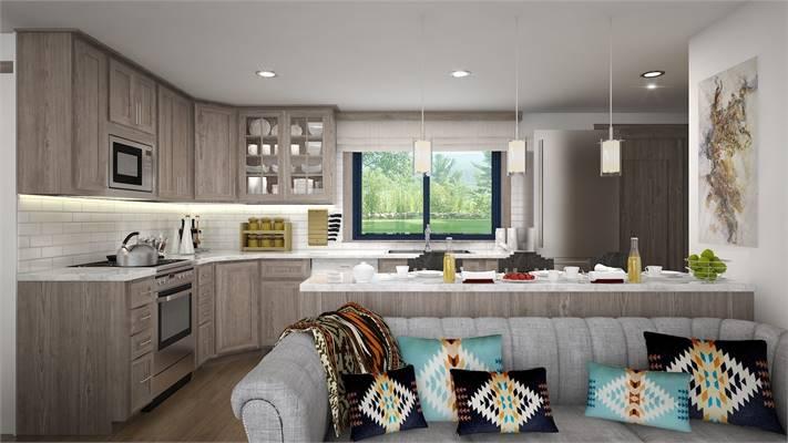 House Plan 4075: Tiny House Plan Kitchen