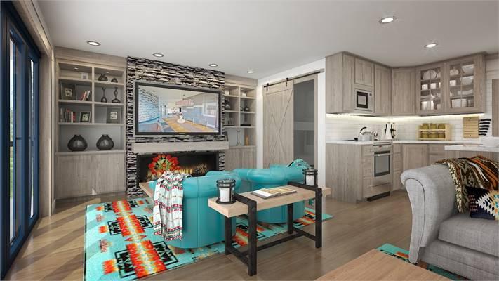 House Plan 4101: Tiny House Plan Living Room