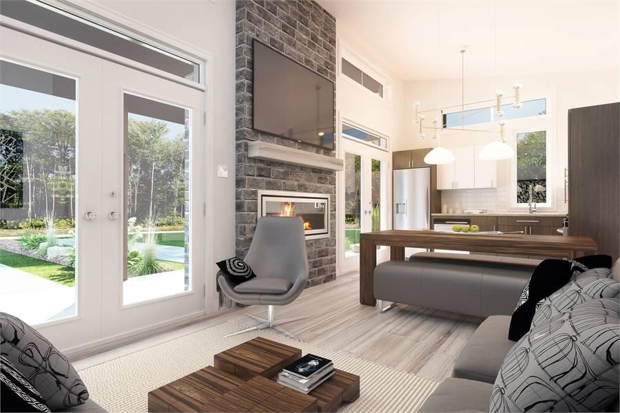House Plan 4709: Tiny House Plan Living Room