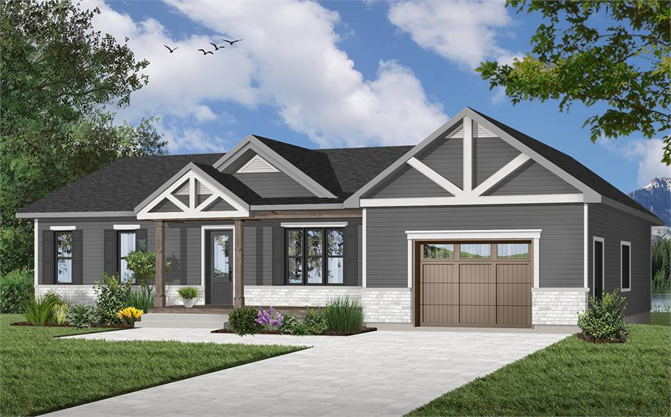 House Plan 7368: Tiny House Plans with 2 Bedrooms