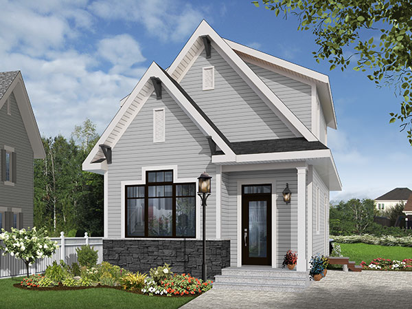 House Plan 9696: Tiny House Plans with 2 Bedrooms