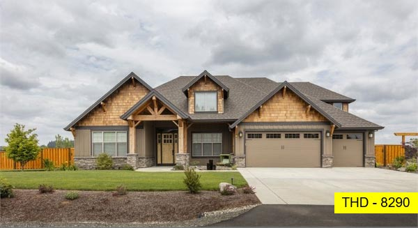 See This Spacious One-Story Home with Three Bedrooms, an Office, and Craftsman Styling!