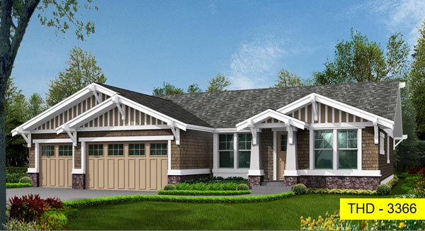 This One-Story Home Has Three Grouped Bedrooms, a Den, Formal Living Space, and a Family Room!