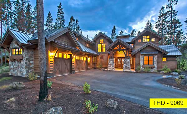 A Best-Selling Craftsman Lodge House Plan with Four Bedroom Suites