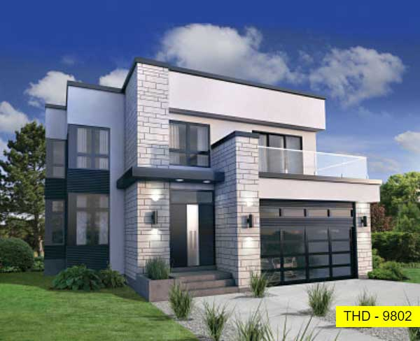 A Two-Story, Three-Bedroom Modern Home with Open Concept Living and an Upstairs Lounge