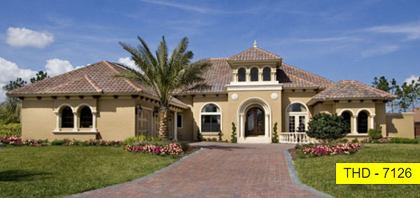 A Luxury Mediterranean Home with Main Level Focused Layout Perfectly Designed for Florida!