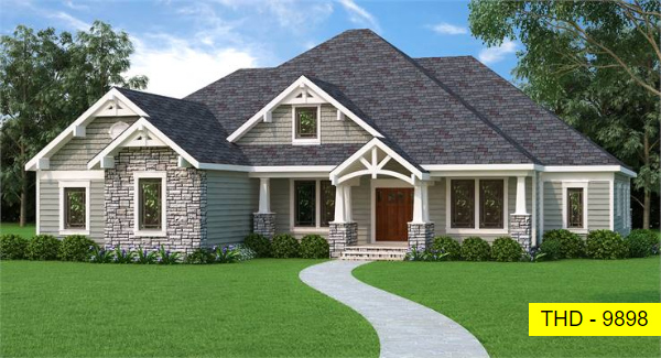 Our Newest America's Choice House Plan, a Midsize Craftsman with Tons of Features