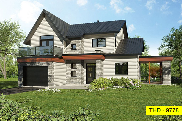 A Compact, Two-Story Modern Farmhouse with Four Bedrooms in Under 2,000 Square Feet