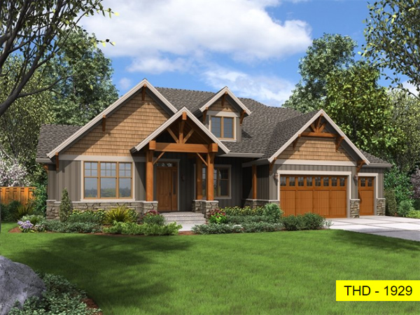 A Lovely Luxury Craftsman with Open Concept Living, Four Split Bedrooms, and an Office!