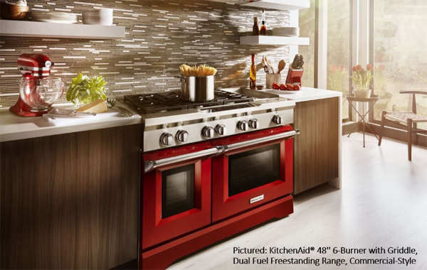 Find Awesome Appliances for Your Builds, Like This Bright Red Commercial Range