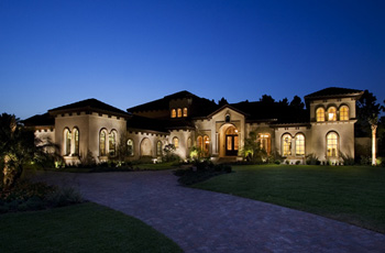 exterior house lighting design. Here  Total Home Lighting Design The House Designers