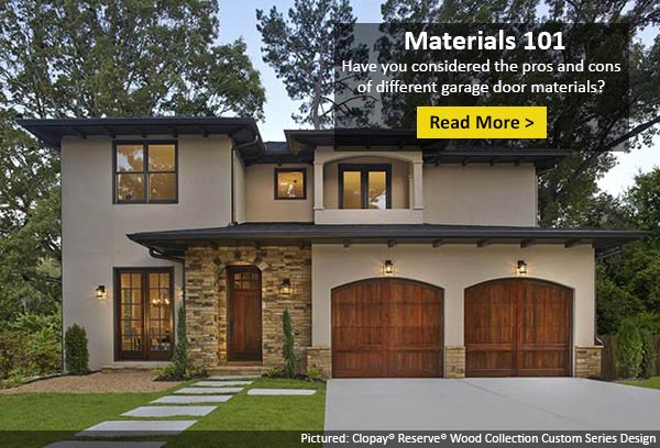 Home ideas issue 421 choosing the right material for for Garage door materials