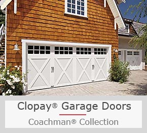 A Stunning Steel Garage Door with Carriage House Looks