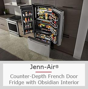 A Sleek Modern Fridge with Features You Can Monitor and Adjust Through an App