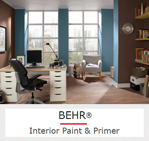 Superieur Interior Paint In Dolphin Blue And Coffee Beans Colors From BEHR ...
