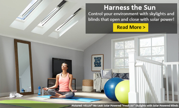 Solar-Powered Skylights and Blinds