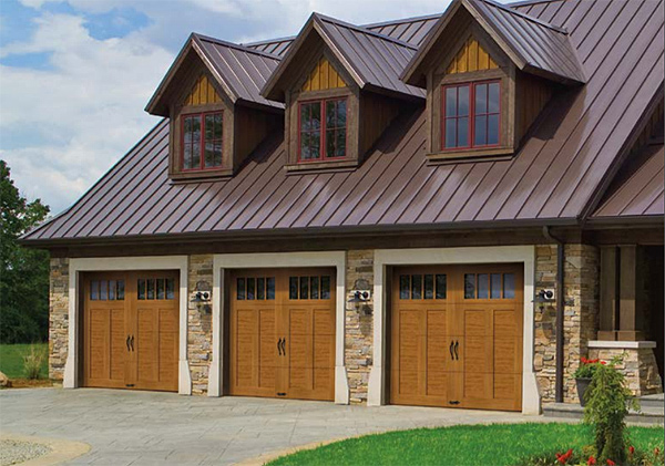 Wood-Look Garage Doors in a Rustic Style, with Modern Operation and Insulation