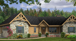 one story craftsman house plans - single floor character