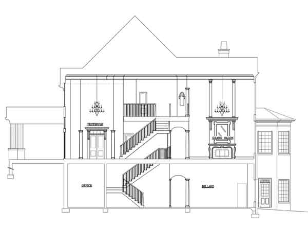 Elevation Plan And Cross Section : Broadstone lodge bedrooms and baths the house