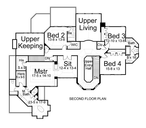 2nd floor plan - Second Floor Floor Plans