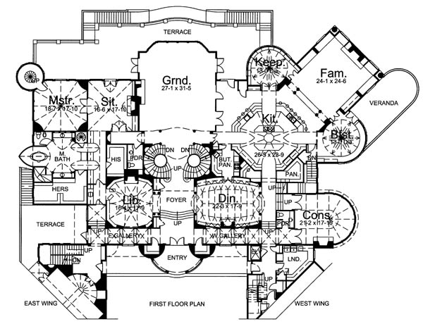 Fantasy Castle Floor Plans http://hmplan.net/archives/1811