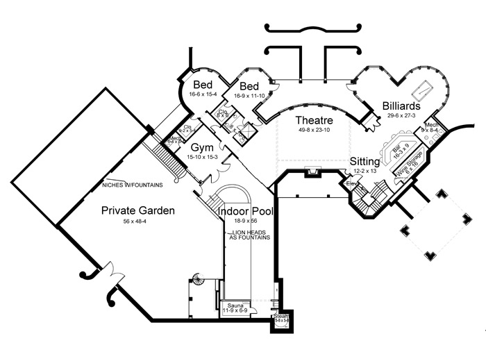 Basement image of Chateau Novella House Plan