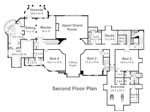 2nd floor plan - Country House Floor Plans