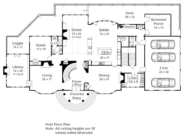 Carmichael Estate 7932 5 Bedrooms and 5 Baths The House Designers