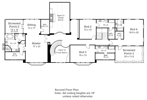 Carmichael estate 7932 5 bedrooms and 5 baths the Estate home floor plans