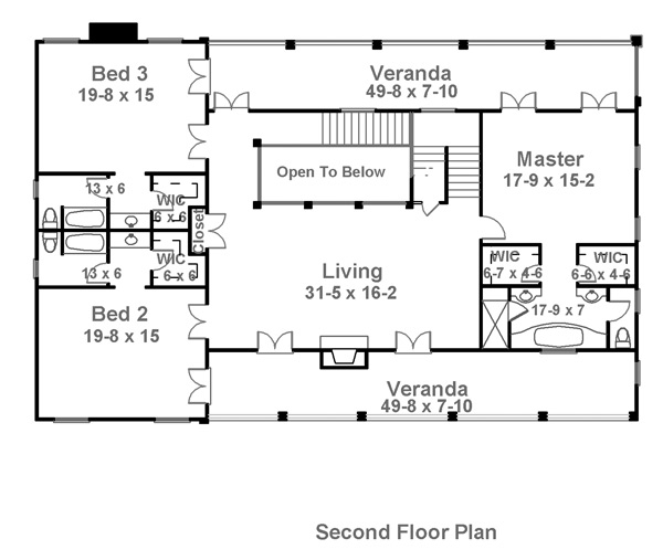 Charleston 1836 4 bedrooms and 4 baths the house designers for Charleston style home floor plans