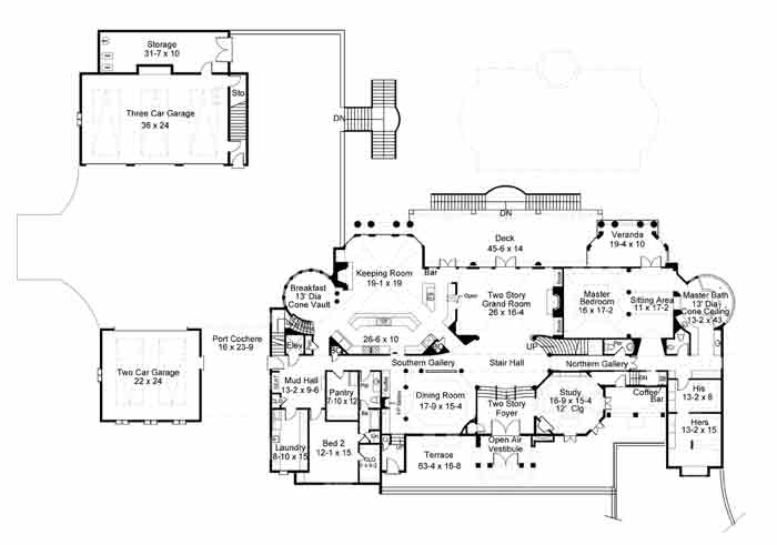 Chateau de lanier 1838 6 bedrooms and 6 baths the for Chateau house plans
